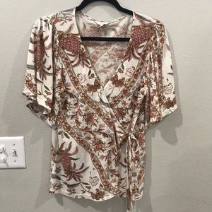 Lucky Brand Side Tie Top